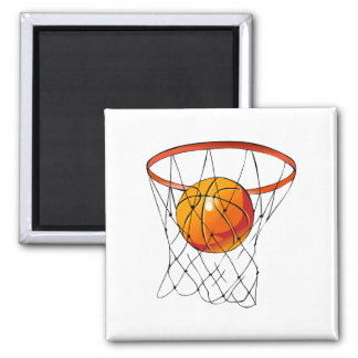 Basketball Hoop 2 Inch Square Magnet