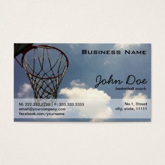 Basketball Hoop against the Blue Sky Business Card