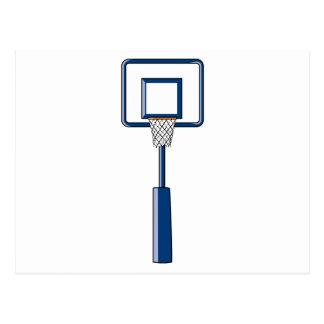basketball hoop and net postcard