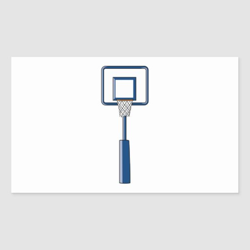 basketball hoop and net rectangle stickers
