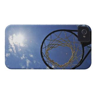 Basketball Hoop and the Sun, against blue sky iPhone 4 Case