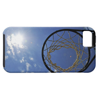 Basketball Hoop and the Sun, against blue sky iPhone SE/5/5s Case