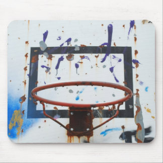 Basketball hoop (background) mouse pad