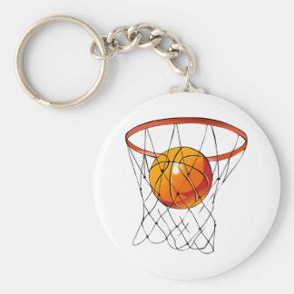 Basketball Hoop Basic Round Button Keychain