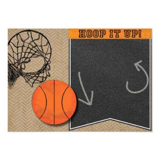 Basketball Hoop Chalkboard Orange Invitation