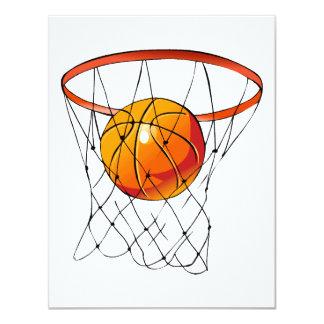 Basketball Hoop 4.25x5.5 Paper Invitation Card