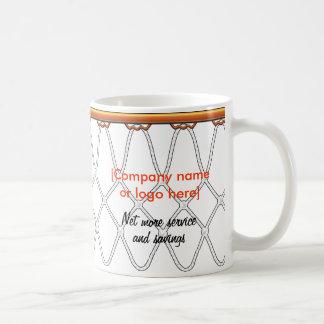 Basketball Hoop Net_black outline_corporate promo Coffee Mug