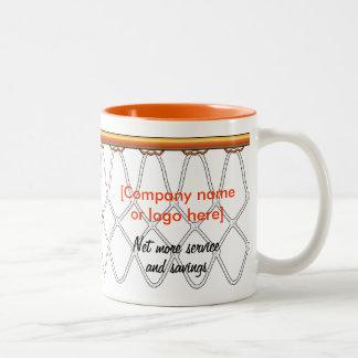 Basketball Hoop Net_black outline_corporate promo Coffee Mugs