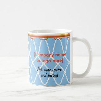 Basketball Hoop Net_blue_corporate promo Mug