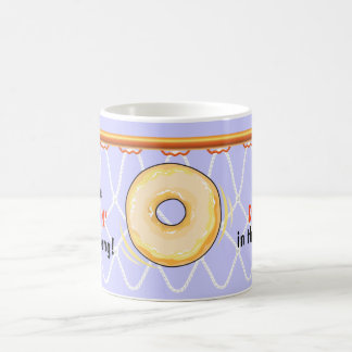 Basketball Hoop Net_Donut_I Love Dunking Classic White Coffee Mug