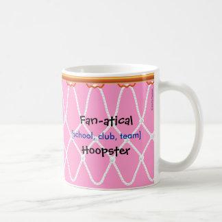 Basketball Hoop Net_Fan-atical Hoopster_pink Coffee Mug