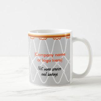 Basketball Hoop Net_grey_corporate promo Coffee Mug