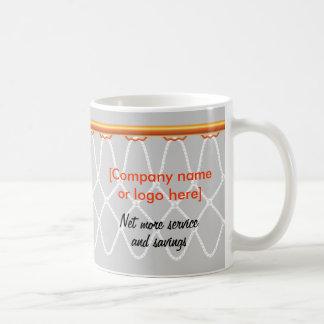 Basketball Hoop Net_grey_corporate promo Coffee Mugs
