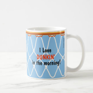 Basketball Hoop Net_I Love Dunkin'_blue Coffee Mug
