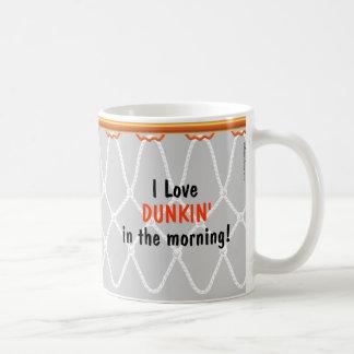 Basketball Hoop Net_I Love Dunkin'_grey Coffee Mug