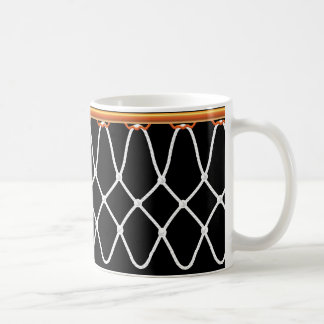 Basketball Hoop Net_on black Coffee Mug