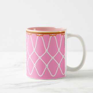 Basketball Hoop Net_pink_jumpstart java Two-Tone Coffee Mug