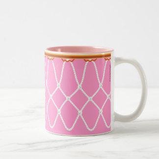 Basketball Hoop Net_pink_jumpstart java Two-Tone Coffee Mug