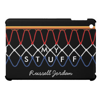 Basketball Hoop Net_red,white,blue_autograph-style iPad Mini Cover