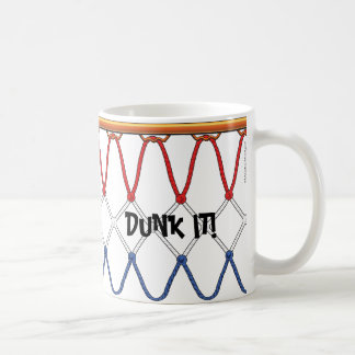 Basketball Hoop Net_red white blue_Dunk It Coffee Mug