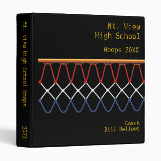 Basketball Hoop Net_red, white & blue personalized Binder
