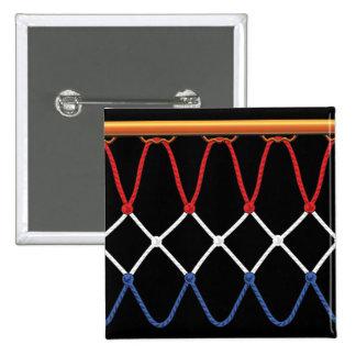 Basketball Hoop Net_red,white,blue Team U.S.A. Pinback Button