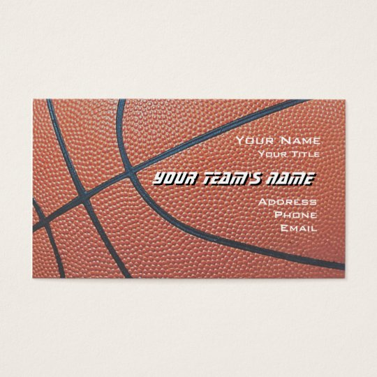 Basketball Hoop Net_texture look_hoop net on blue Business Card