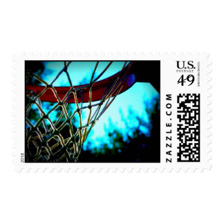 Basketball Hoop Postage Stamps