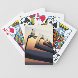 Basketball Hoop Silhouette Bicycle Playing Cards