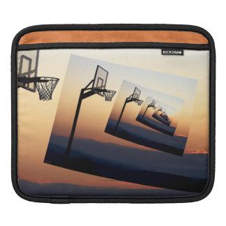 Basketball Hoop Silhouette iPad Sleeve