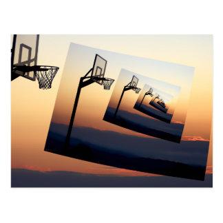 Basketball Hoop Silhouette Postcard