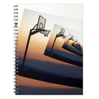 Basketball Hoop Silhouette Spiral Notebook