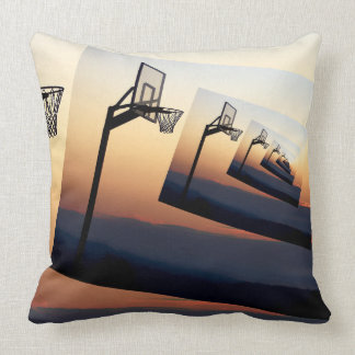 Basketball Hoop Silhouette Throw Pillow