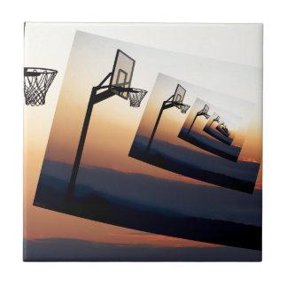 Basketball Hoop Silhouette Tile