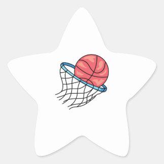 BASKETBALL HOOP STAR STICKER