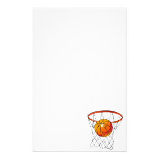 Basketball Hoop Personalized Stationery