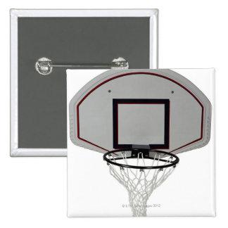Basketball hoop with backboard button