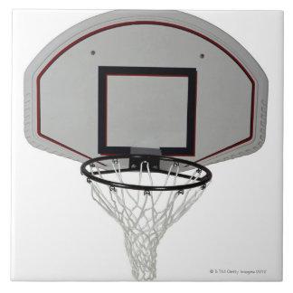 Basketball hoop with backboard ceramic tile