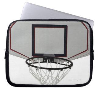 Basketball hoop with backboard computer sleeve