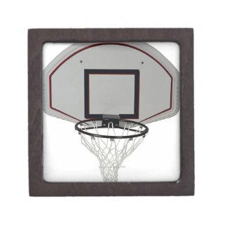 Basketball hoop with backboard jewelry box