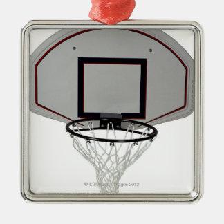 Basketball hoop with backboard metal ornament