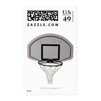 Basketball hoop with backboard postage stamp