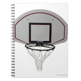 Basketball hoop with backboard spiral notebook