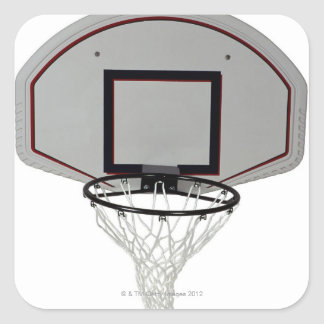 Basketball hoop with backboard square sticker