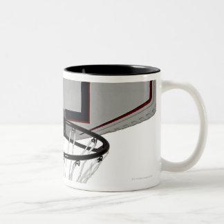 Basketball hoop with backboard Two-Tone coffee mug