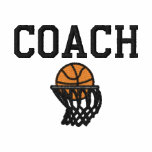 Basketball Hoops Coach Embroidered Shirt