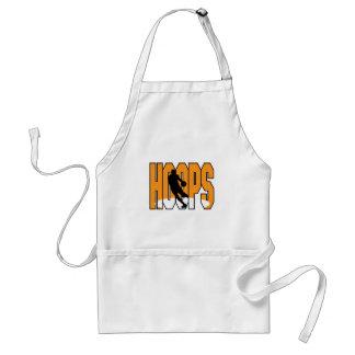 basketball hoops design apron