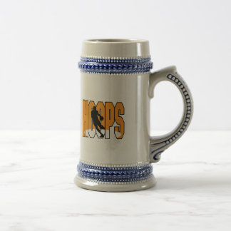 basketball hoops design beer stein