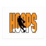 basketball hoops design postcard
