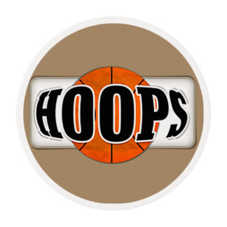 Basketball Hoops Edible Frosting Rounds